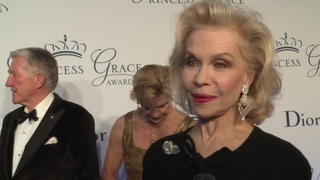 interview lynn wyatt talks about being asked to chair the first inaugural princess grace gala at 2016 princess grace awards gala at cipriani 25... - cipriani manhattan stock videos & royalty-free footage