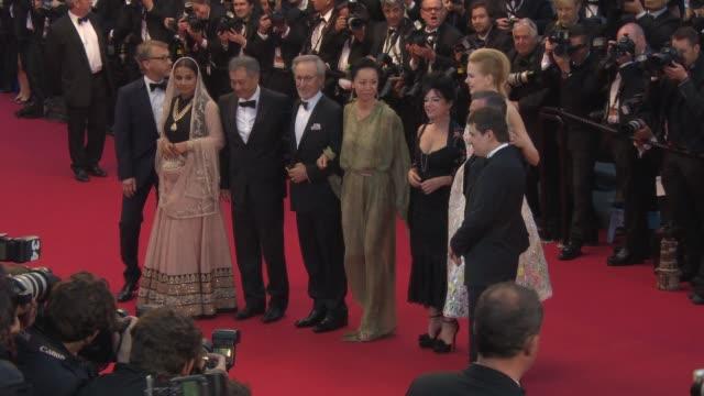 Lynne Ramsay Ang Lee Steven Spielberg Nicole Kidman Daniel Auteuil Vidya Balan Christoph Waltz Naomi Kawase and Cristian Mungiu at Opening Ceremony...
