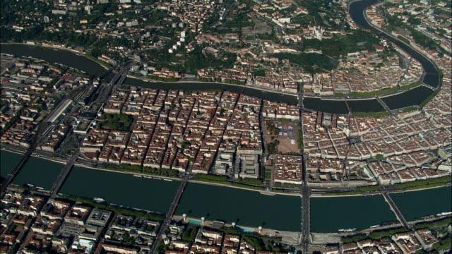 Lyon-Luftaufnahme-Rhône-Alpes und Rhône, Arrondissement de Lyon, Frankreich