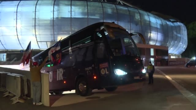 lyon leave the anoeta stadium in san sebastian to head back to france after beating wolfsburg 31 to win the women's champions league - head back stock videos & royalty-free footage