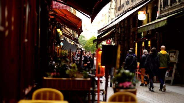 lyon restaurants - editorial stock videos & royalty-free footage