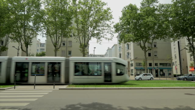 lyon, train, trams,ms - tram stock videos & royalty-free footage