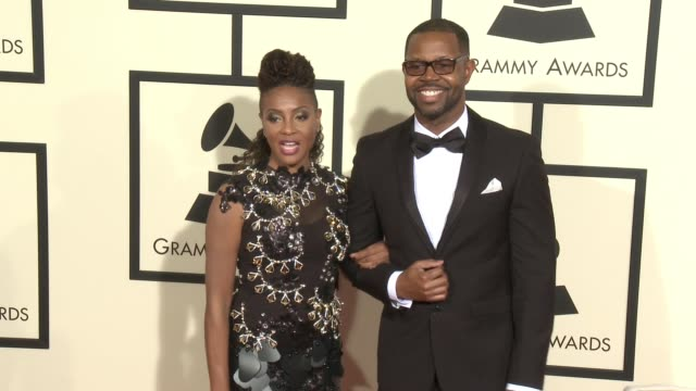 stockvideo's en b-roll-footage met mc lyte at 58th annual grammy awards® at staples center on february 15 2016 in los angeles california - 58e grammy awards