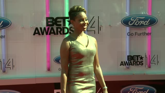 mc lyte at the 2014 bet awards on june 29 2014 in los angeles california - bet awards stock videos and b-roll footage