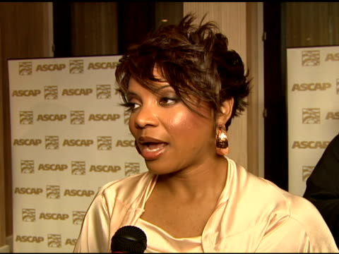 vidéos et rushes de lyte on how she feels about being at the ascap awards, on ascap having been very good to her at the 2006 ascap rhythm and soul music awards at the... - ascap
