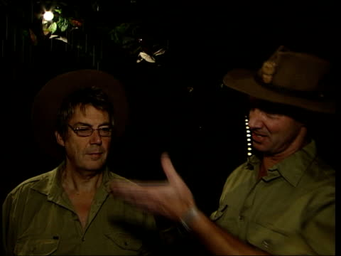 i'm a celebrity get me out of here record released lord brockett interview sot was fun mike read interview sot you should take it more seriously... - i'm a celebrity... get me out of here stock videos & royalty-free footage