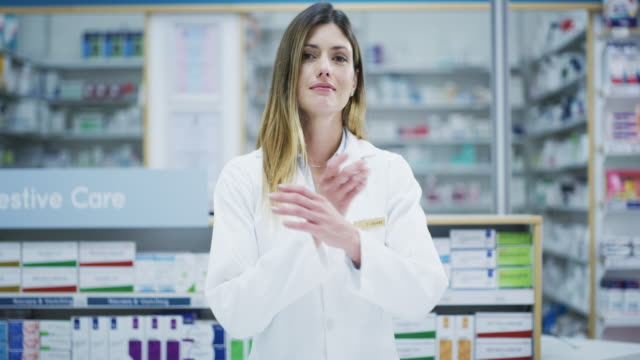 i'm an internal member of the healthcare team! - pharmacist stock videos & royalty-free footage