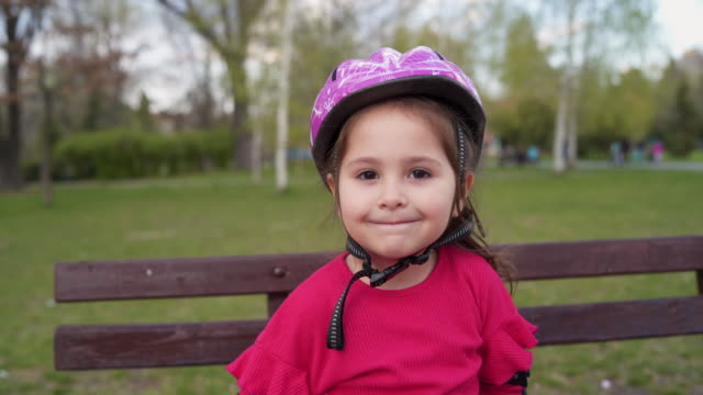 i'm confident litlle skater - cycling helmet stock videos & royalty-free footage