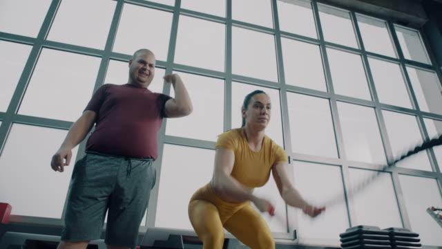 jag är inte intresserad! - viktträning bildbanksvideor och videomaterial från bakom kulisserna