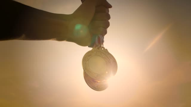 i'm winner - medal stock videos & royalty-free footage