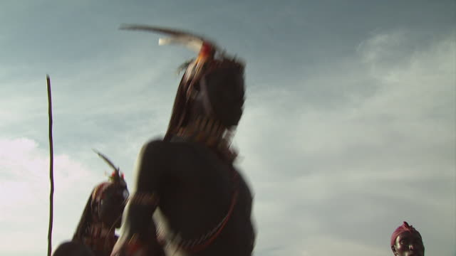 maasai ceremony - warriors dancing, with audio - masai stock videos and b-roll footage