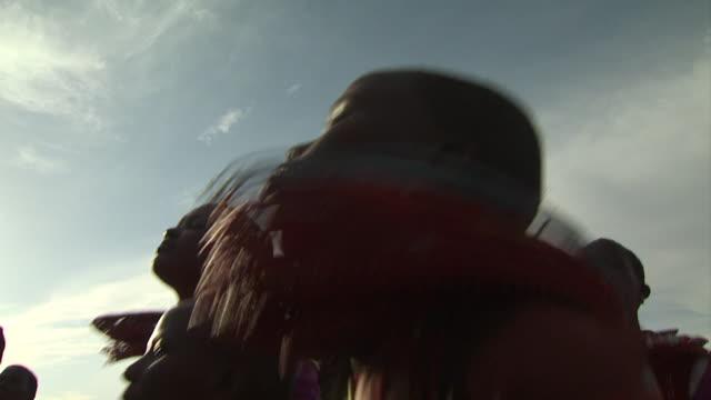Maasai Ceremony - Women dancing, close up low angle