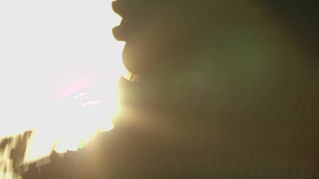 maasai ceremony - women dancing, silhouetted against sun, with audio - masai stock videos and b-roll footage