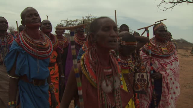 maasai ceremony - women singing, with audio - ceremony stock videos & royalty-free footage