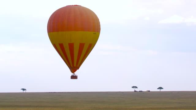 maasai mara - 熱気球点の映像素材/bロール