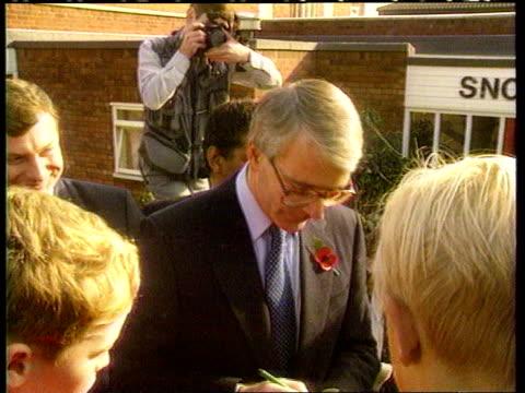 Tory rebels TX John Major signing autographs