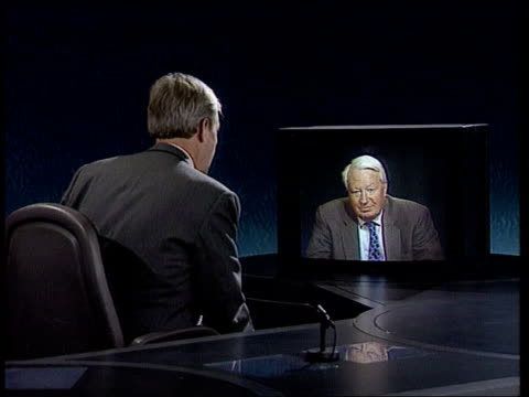 denmark rejection and reactions itn live studio/live 2 way ex westminster england london itn studios cms sir edward heath mp intvwd sof pm has signed... - referendum stock videos & royalty-free footage