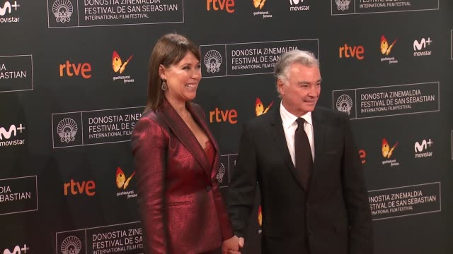 mabel lozano and eduardo garcia campoy attend 'la fille de brest' premiere during 64th san sebastian international film festival at kursaal palace on... - fille de stock videos & royalty-free footage