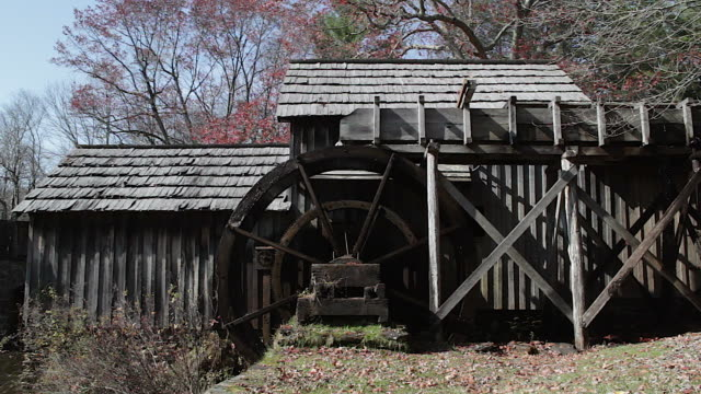 mabry mill watermill in the blue ridge mountains - water wheel stock videos and b-roll footage