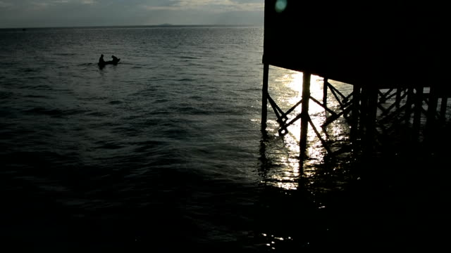 mabul island sunrise, sipadan, borneo malaysia - mabul island stock videos and b-roll footage