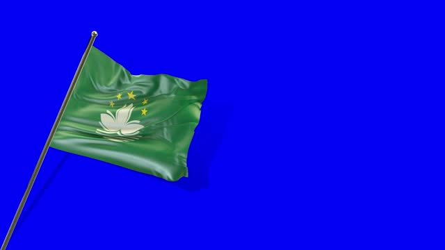 macao flag rising - macao flag stock videos & royalty-free footage