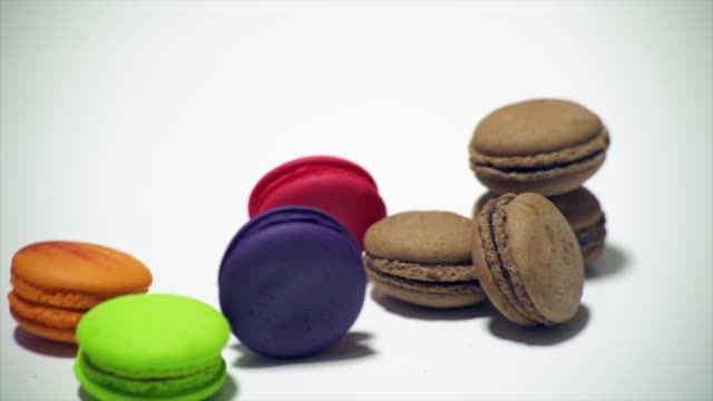 macaron roll slow motion - stack stock videos & royalty-free footage