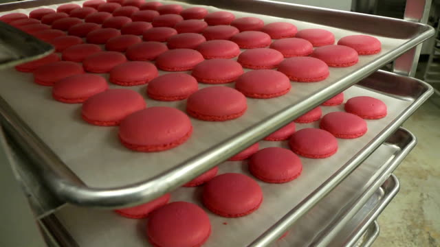 macaroons dolly shot - macaroon stock videos and b-roll footage
