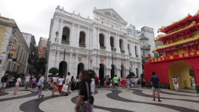 macau china september 24 2016 the senado square or senate square is a paved town square in sé macau china and part of the unesco historic centre of... - avenida stock videos & royalty-free footage