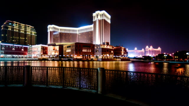 Macau, China-Nov 26,2014: Walking towards to the famous Venetian Resort in Macau, China