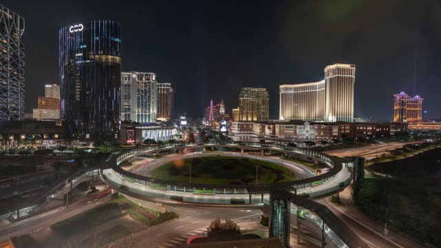 macau city traffic time lapse - macao stock videos & royalty-free footage