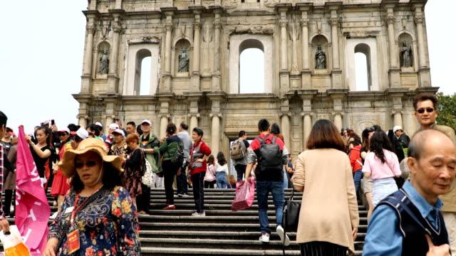 macau crowds.china - macao stock videos & royalty-free footage