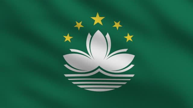 macau flag - macao flag stock videos & royalty-free footage