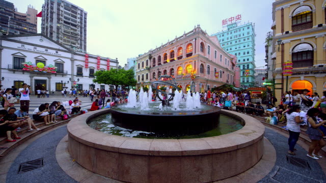 macau - leal senado square stock videos & royalty-free footage