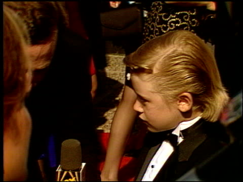 Macaulay Culkin At The 1991 Emmy Awards Arrivals Pasadena Stock Footage Video