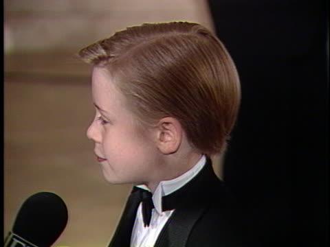 Macaulay Culkin at the Golden Globes Awards 1991 at Beverly Hills Hotel