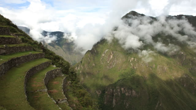 macchu picchu terraced fields timelapse - old ruin stock videos & royalty-free footage