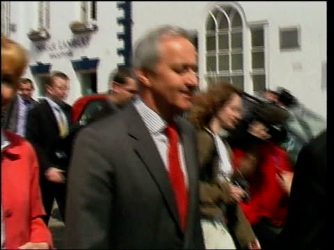 Macclesfield EXT Former Tory MP Neil Hamilton along past press with wife Christine Hamilton as arriving at court for bankruptcy hearing Neil Hamilton...