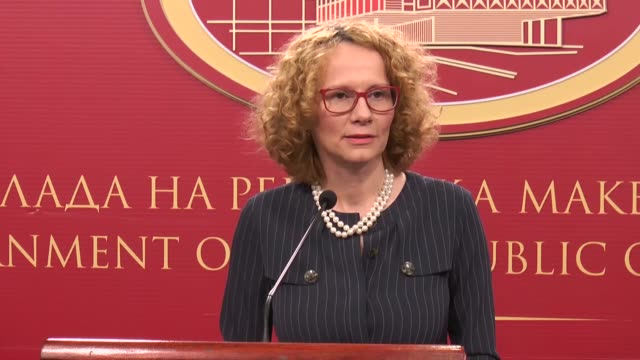 macedonia on thursday will officially begin accession negotiations with nato the country's defense minister radmila sekerinska said on tuesday... - skopje stock videos and b-roll footage