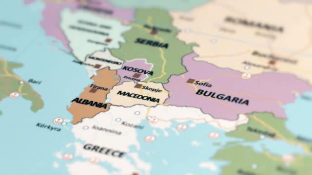 Europa-Mazedonien auf Weltkarte