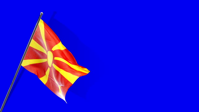 macedonian flag rising - single object stock videos & royalty-free footage