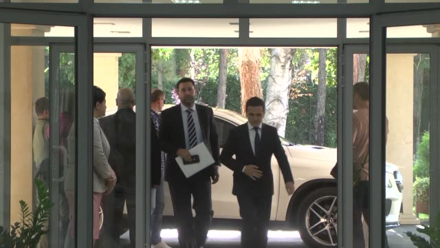 macedonian prime minister zoran zaev meets with besa movement's leader bilal kasami chairman of democratic union for integration ali ahmeti and... - skopje stock videos and b-roll footage