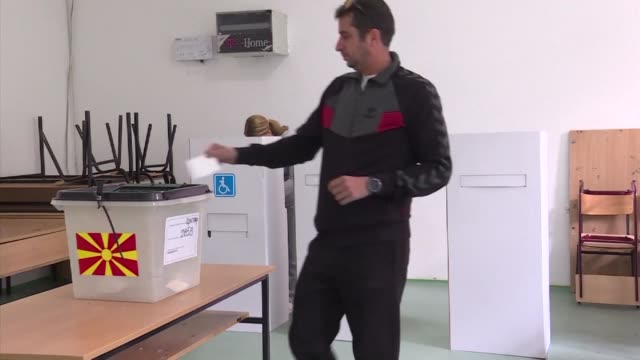 macedonians cast their ballots to vote on whether to rename their country north macedonia in a bid to settle a long running row with greece and... - macedonia country stock videos and b-roll footage