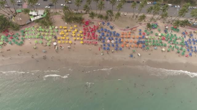 maceio - alagoas - parasol stock videos & royalty-free footage