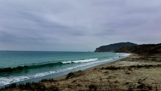 machalilla beach en ecuador timelapse