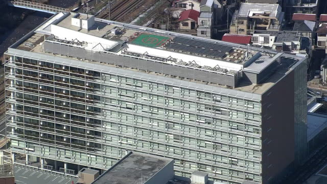 aerial, machida city government office, tokyo - local government building stock videos & royalty-free footage