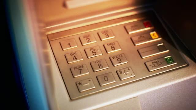 ATM machine, ATM bank machine keypad.