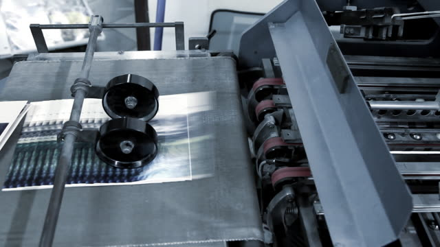machine folding paper - paper mill stock videos and b-roll footage