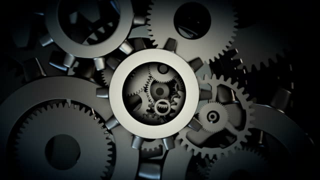 machine gear wheel - abstract stock videos & royalty-free footage