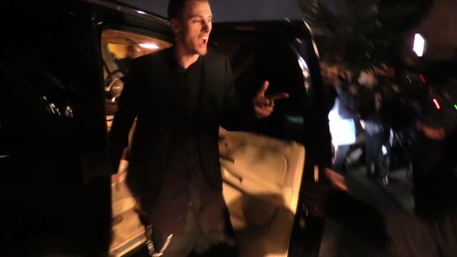 machine gun kelly departs the vanity fair fiat young hollywood in hollywood celebrity sightings in los angeles ca on - vanity fair stock videos and b-roll footage