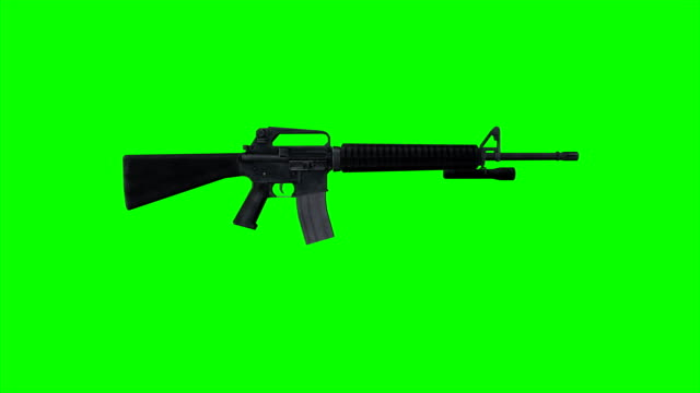machine gun with bump stock - machine gun stock videos & royalty-free footage